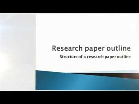 How is a research report written